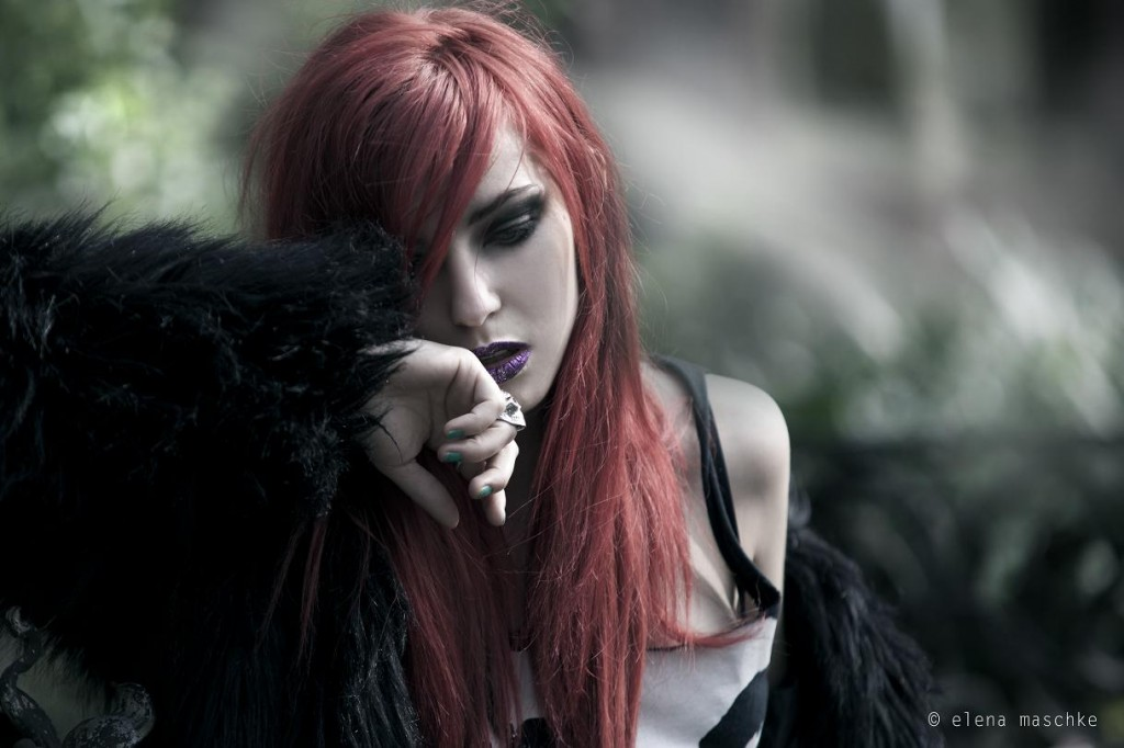masha sedgwick elena maschke cemetery fashion shoot photography red hair waste