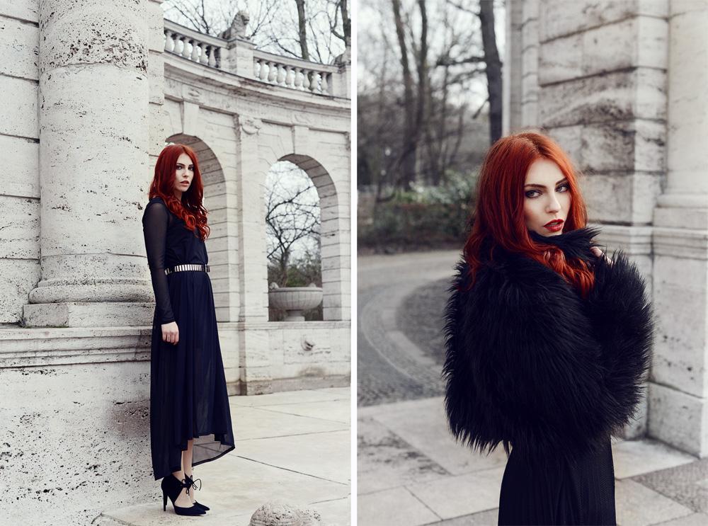 Masha Sedgwick Kim Ahrens Kiamisu Shooting dark goth Berlin gothic black