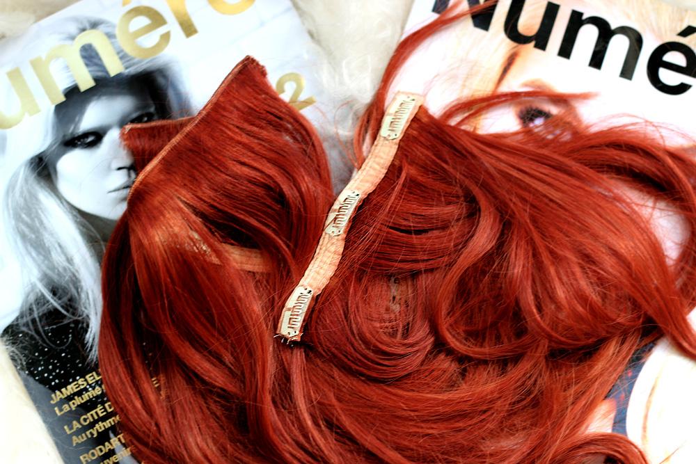 Masha Sedgwick clip in haare extensions echthaar befestigen tutorial wie mache ich rein myhairclips haarverlängerung rot kupfer