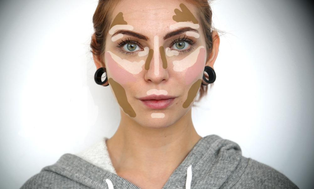 Masha Sedgwick contouring konturieren kontourieren highlighter bronzer gesicht formen schmales gesicht wangenknochen hervorheben vollere lippen schminktechnik make up schminke kosmetik ohne op