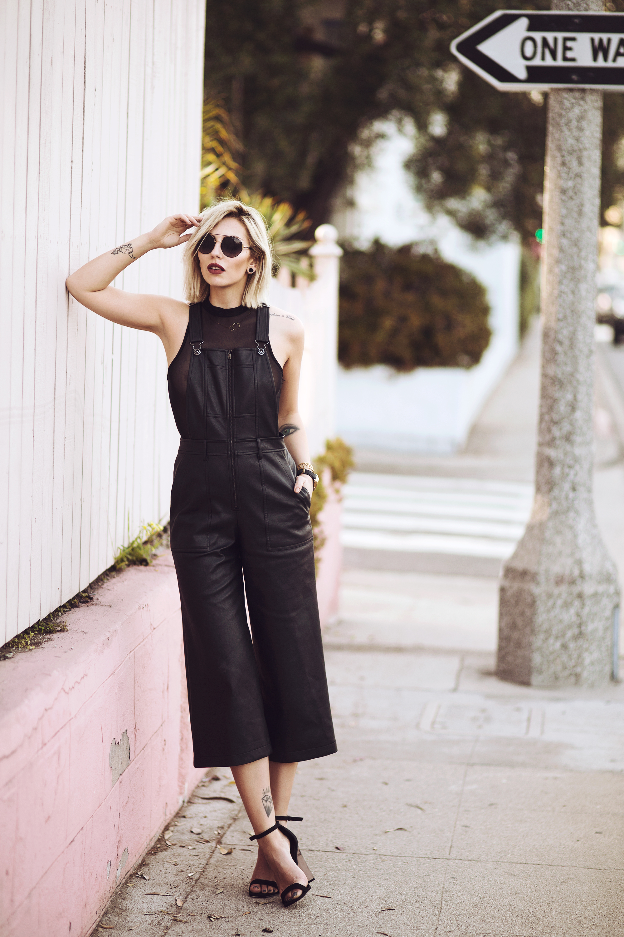 leather dungarees | view all the pictures on my blog | all black everything | outfit | fashion & style