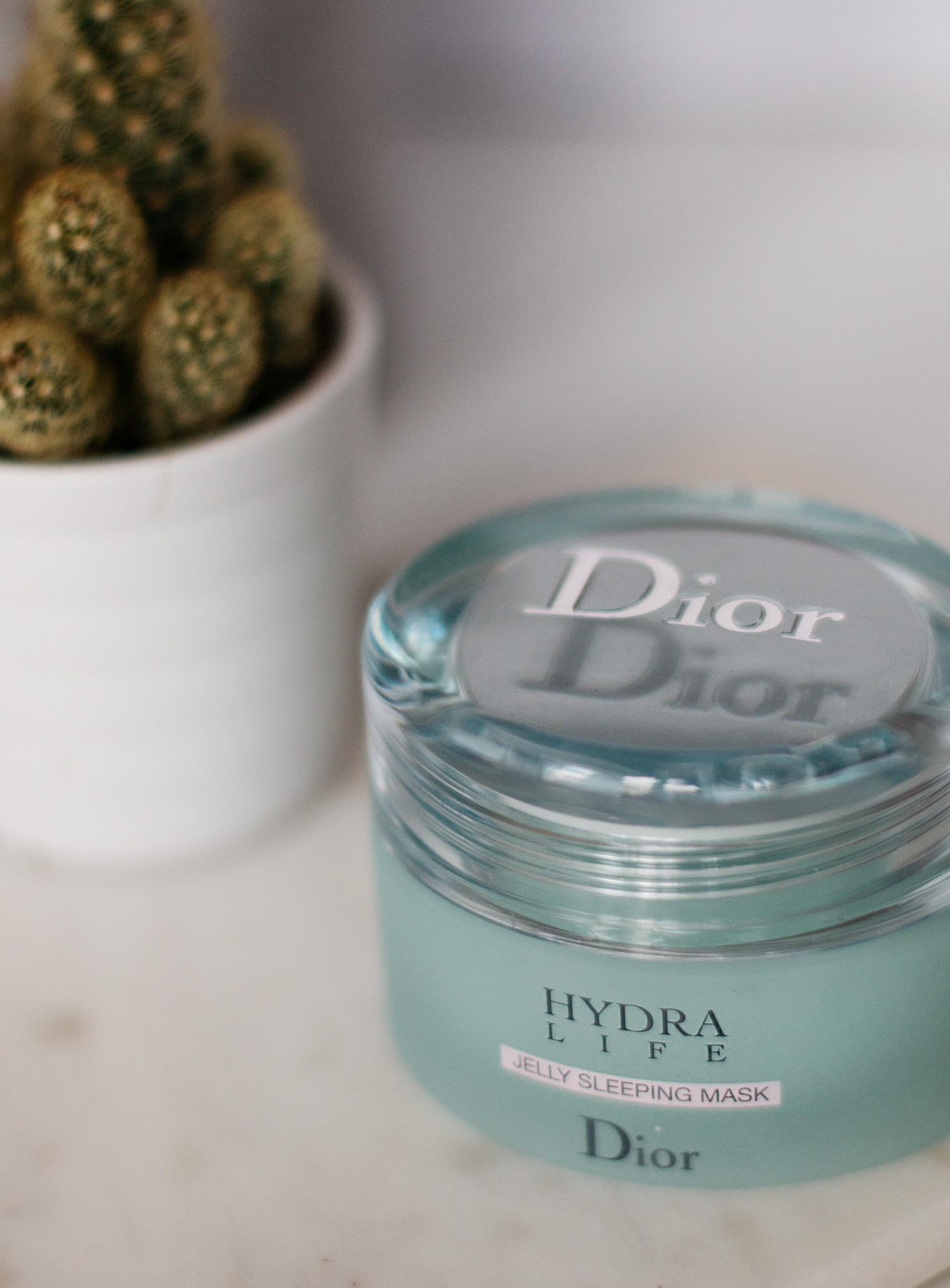 любимые косметические товары | ночная маска от Dior Jelly