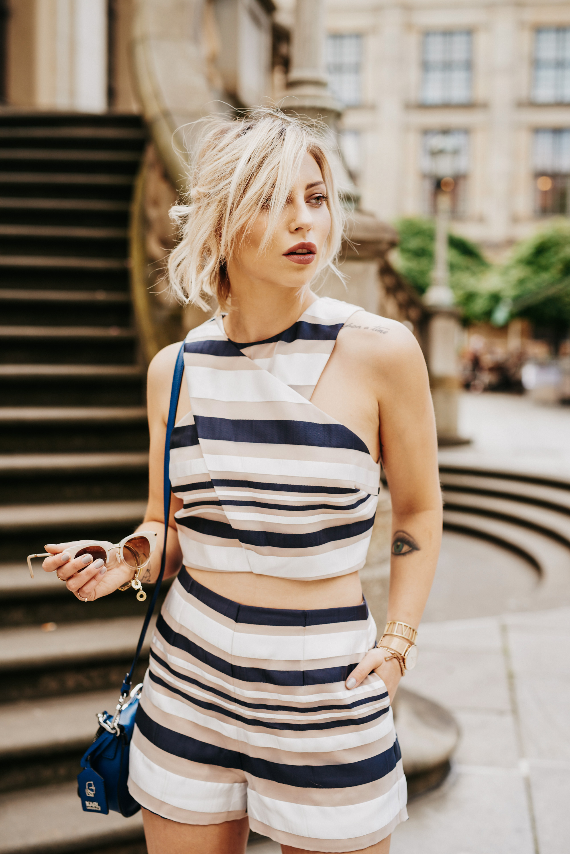 striped two piece | labels: finders keepers | style: sexy, chic, edgy