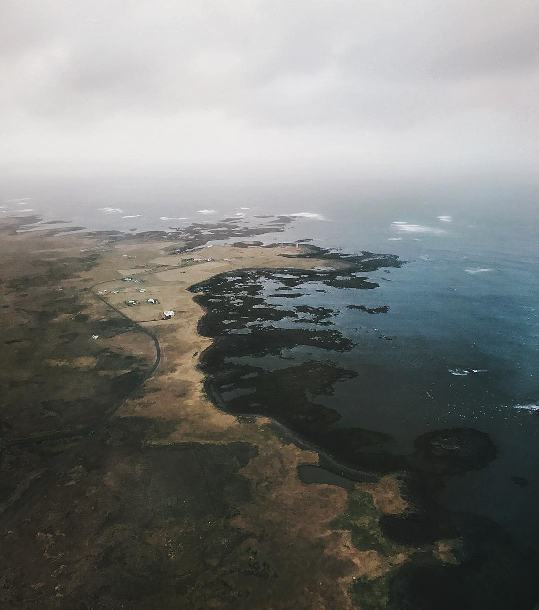 Iceland from the plane