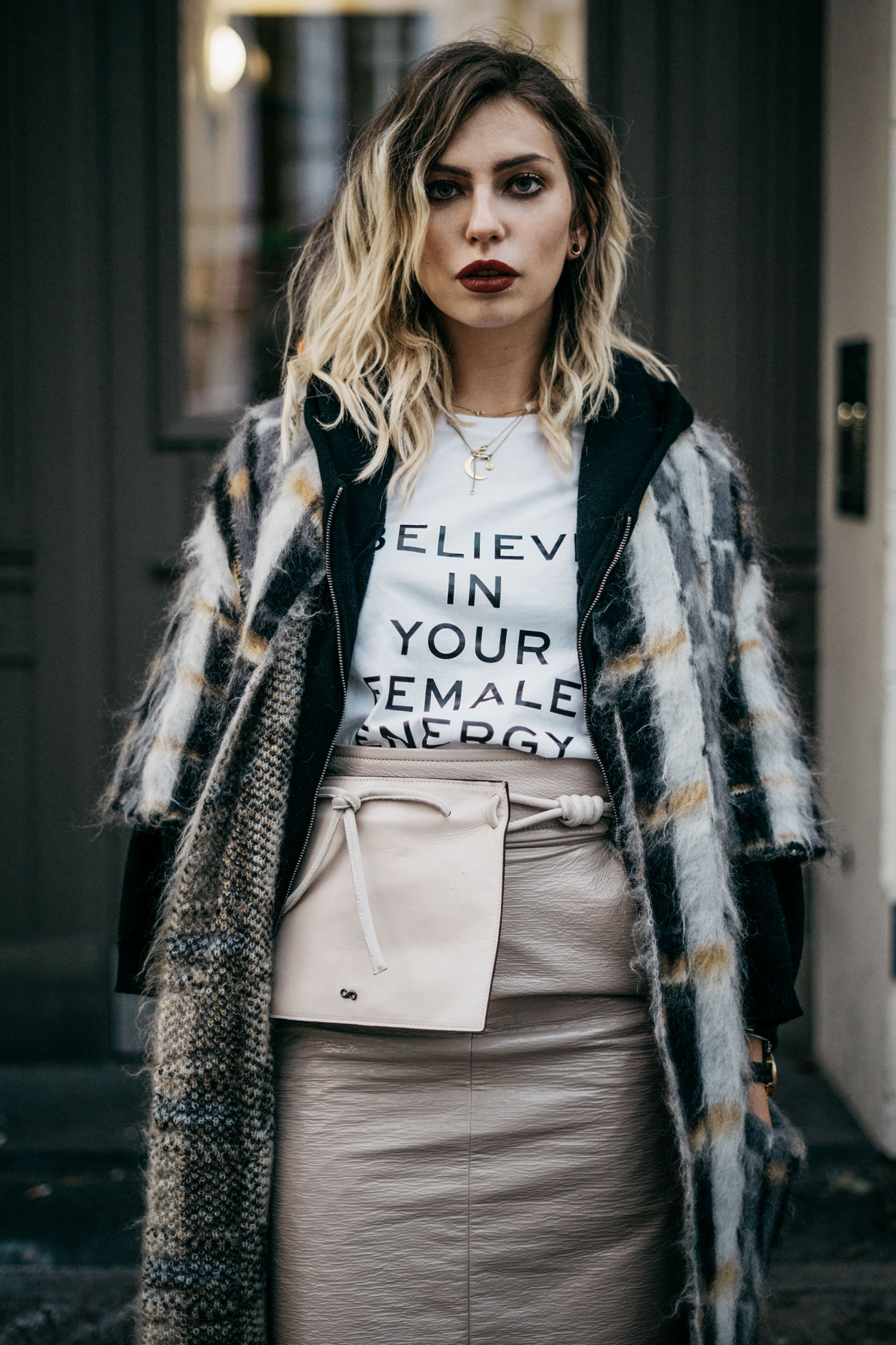 Street style outfit in Berlin | edgy, cool, feminine, winter | Dorothee Schumacher