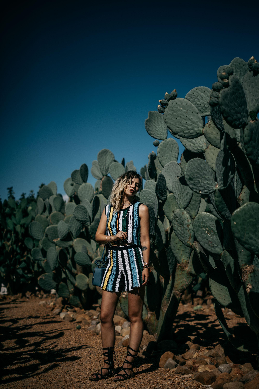 Babylonstoren Garden in Cape Town | cactus garden | outfit: Lala Berlin SS17 | style: summer, crochet, colorful