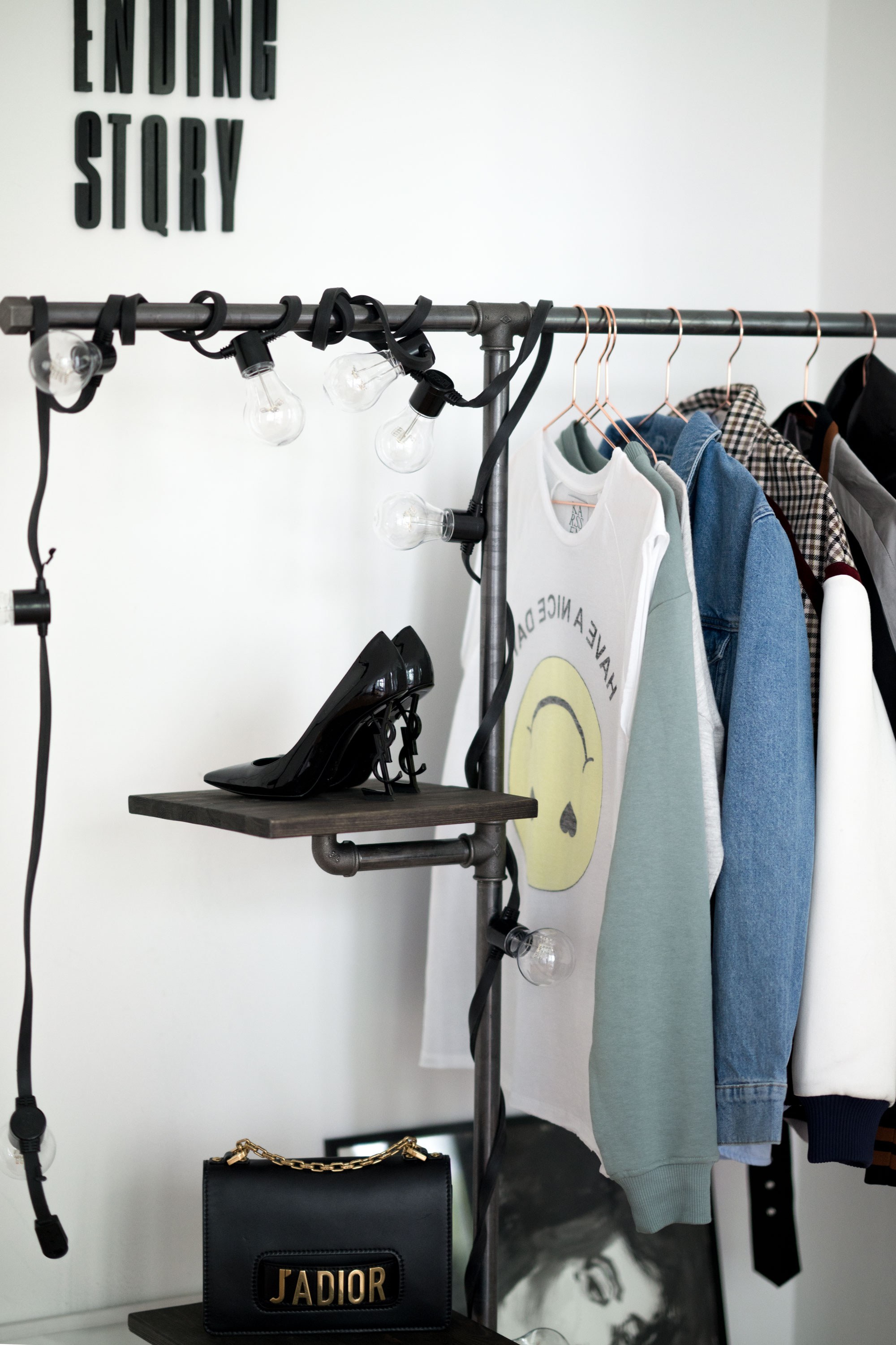 Rackbuddy clothing racks | DIY inspiration | build your own wardrobe of water pipes