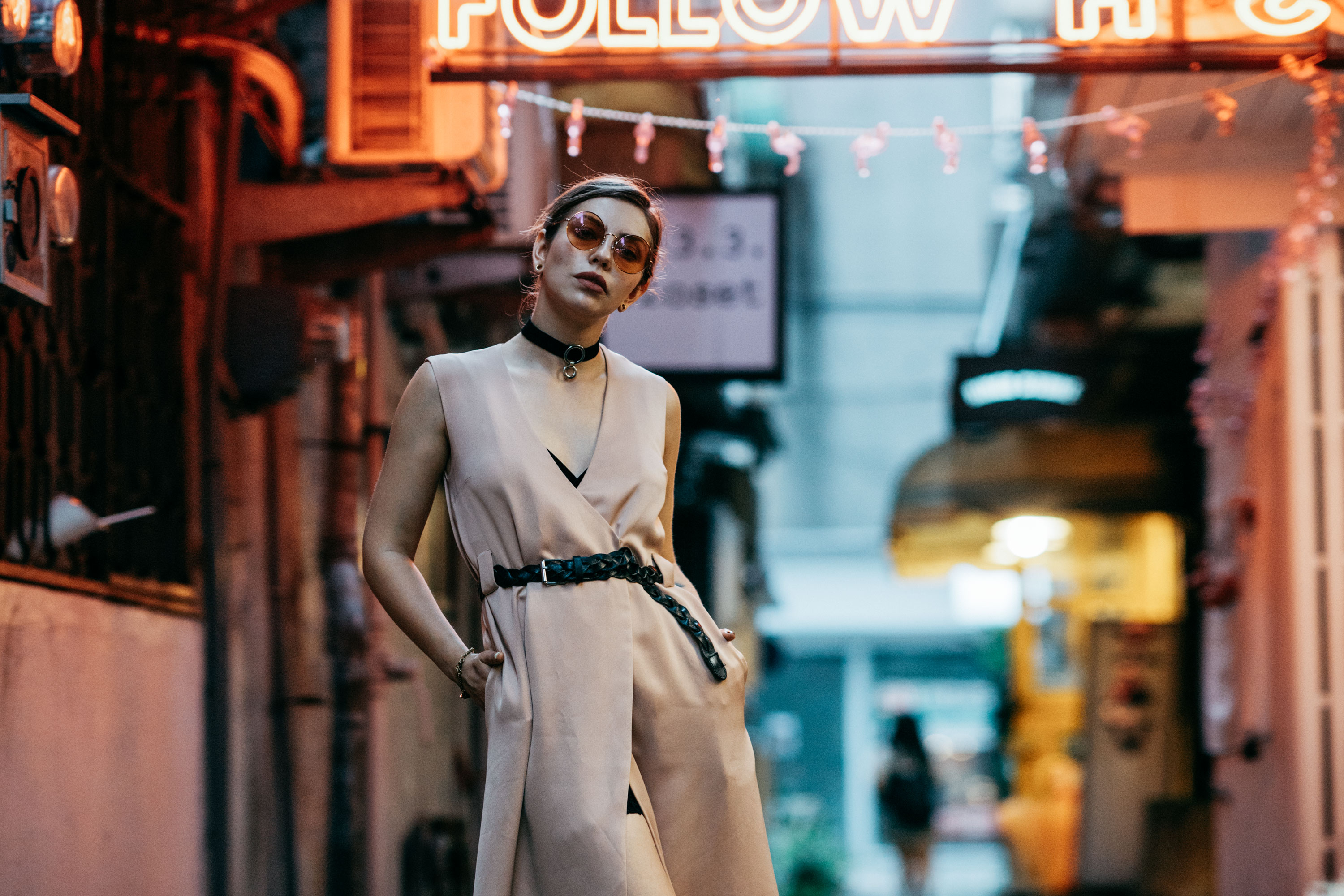 Big City Lights Editorial | outfit style: Asia, edgy, cool, sophisticated, sexy