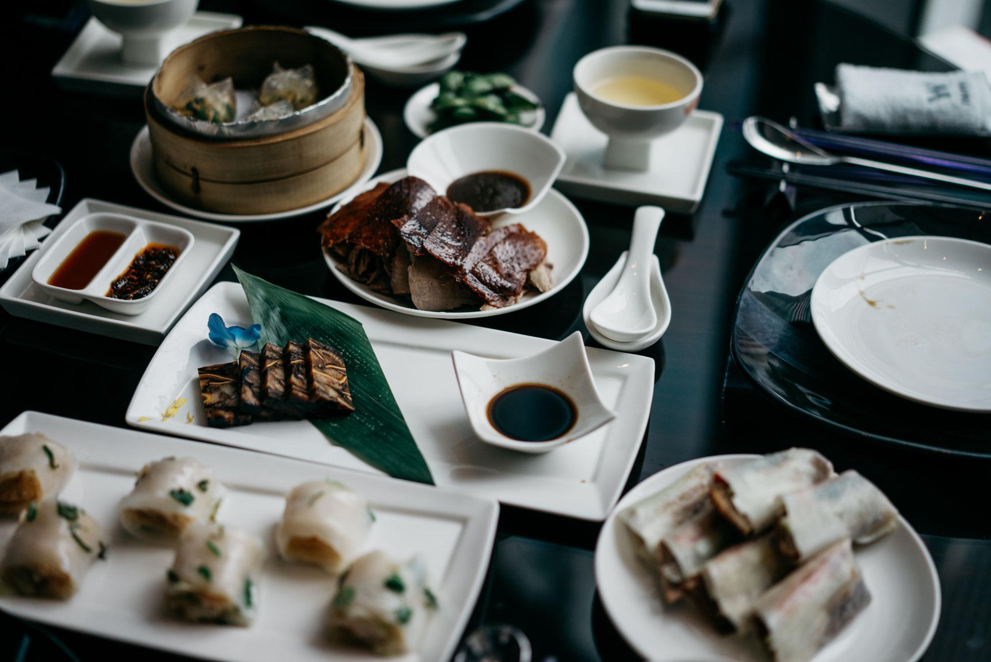 traditionelles chinesisches Menü im W Taipei