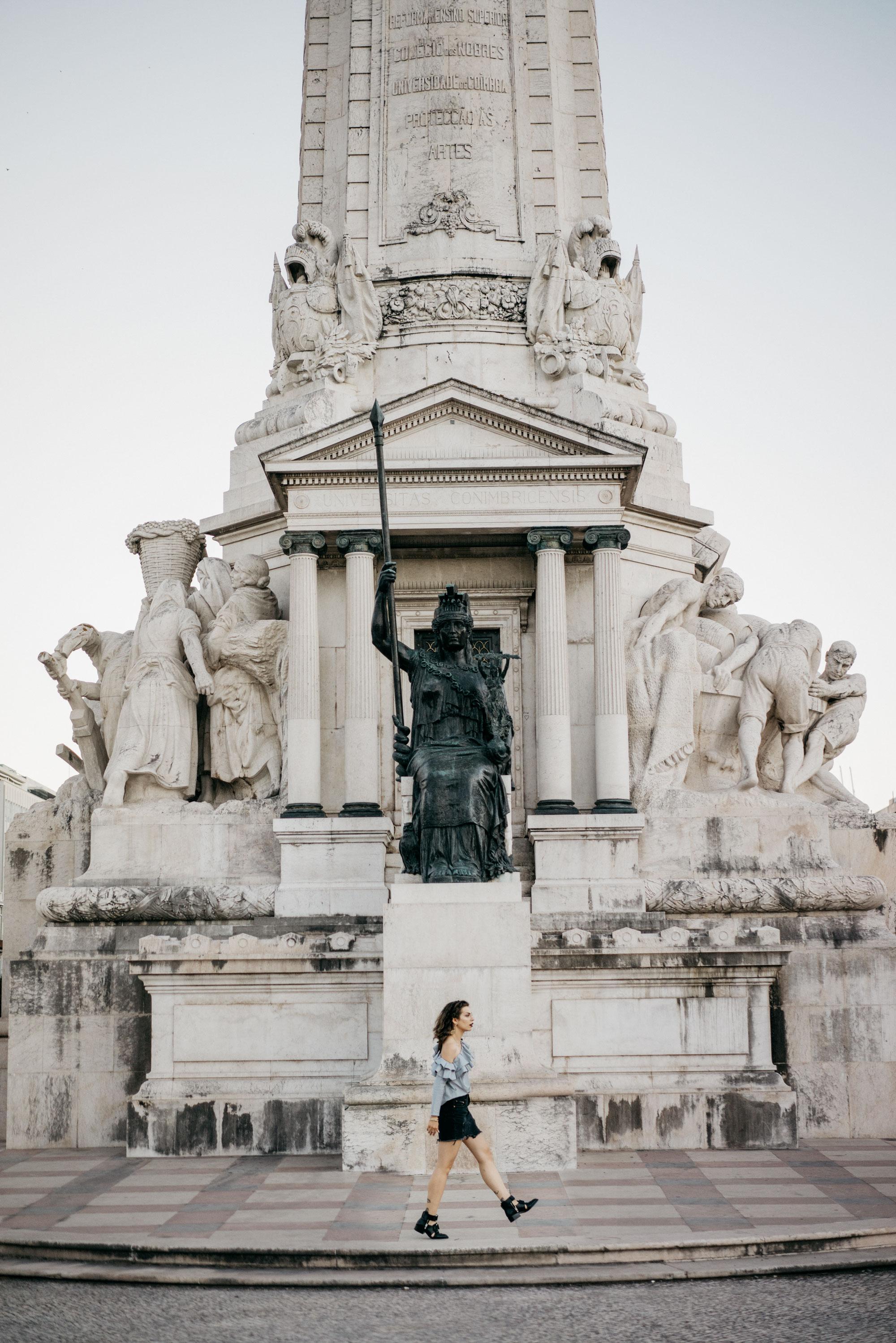 Praça Marquês de Pombal | Lisbon | Street Style | Fashion Blogger | Summer