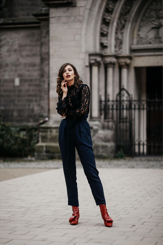 Street Style in Berlin | Streifen & Spitze | Mode | Marken: Liu Jo, AGL, Baum & Pferdgarten | Herbstmode