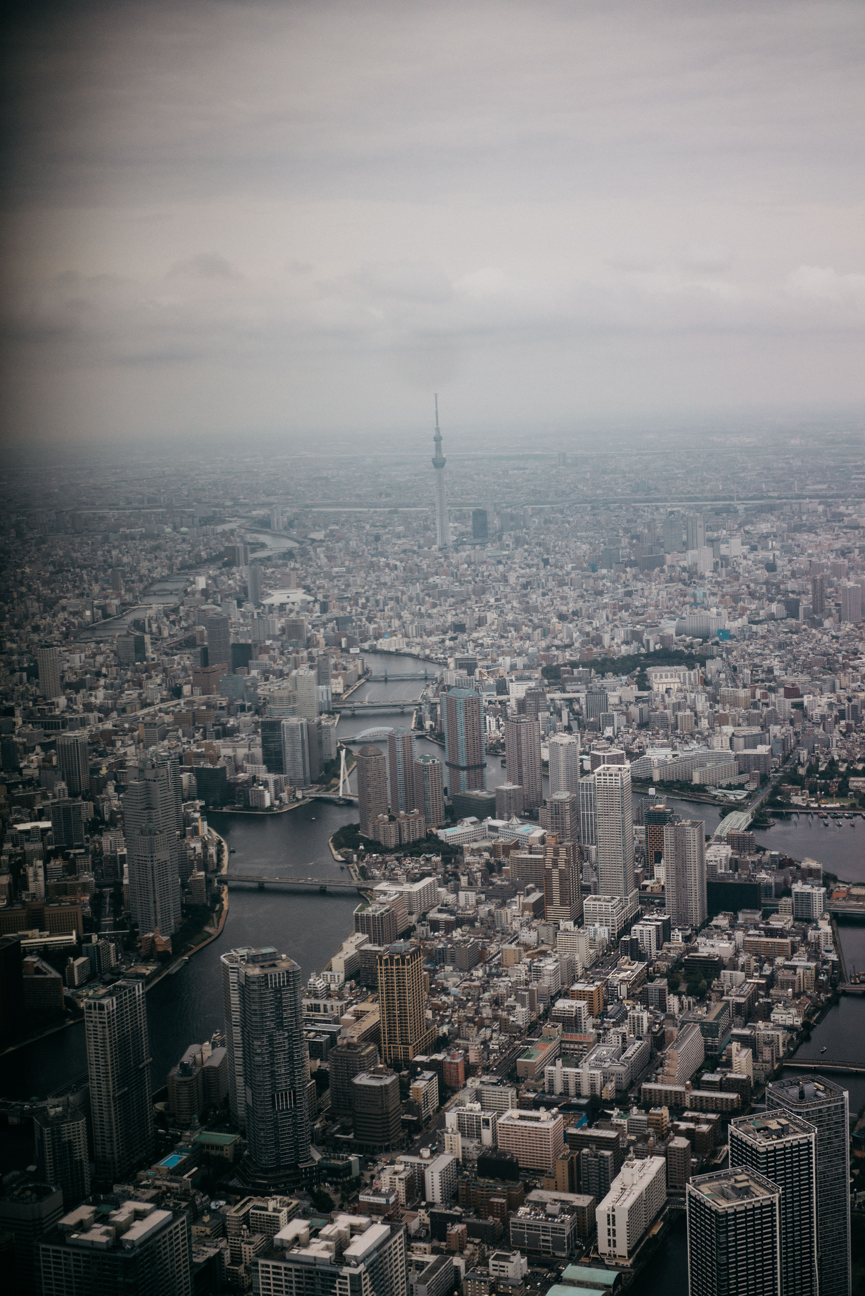 Tokyo Skyline | Japan metropolitan | Helicopter drive | view from above