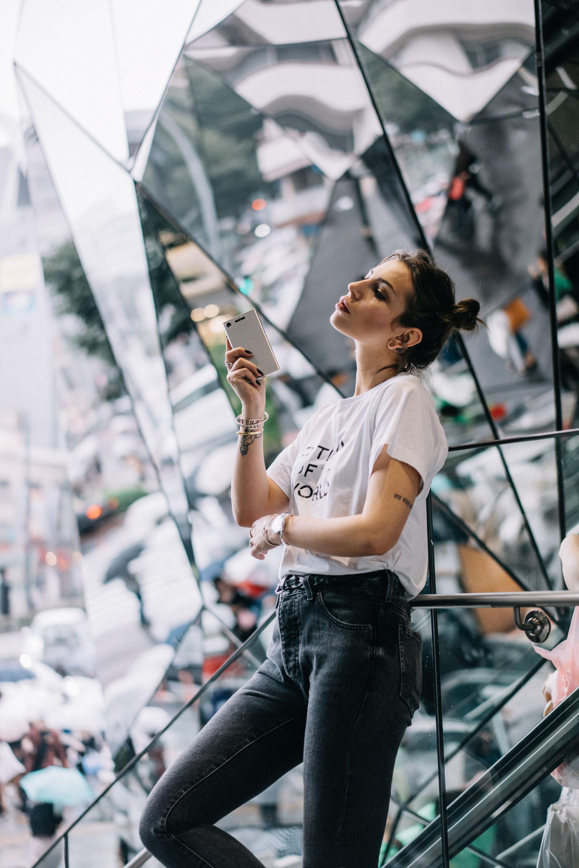 Sony Experia | Tokio Einkaufszentrum | Spiegelung