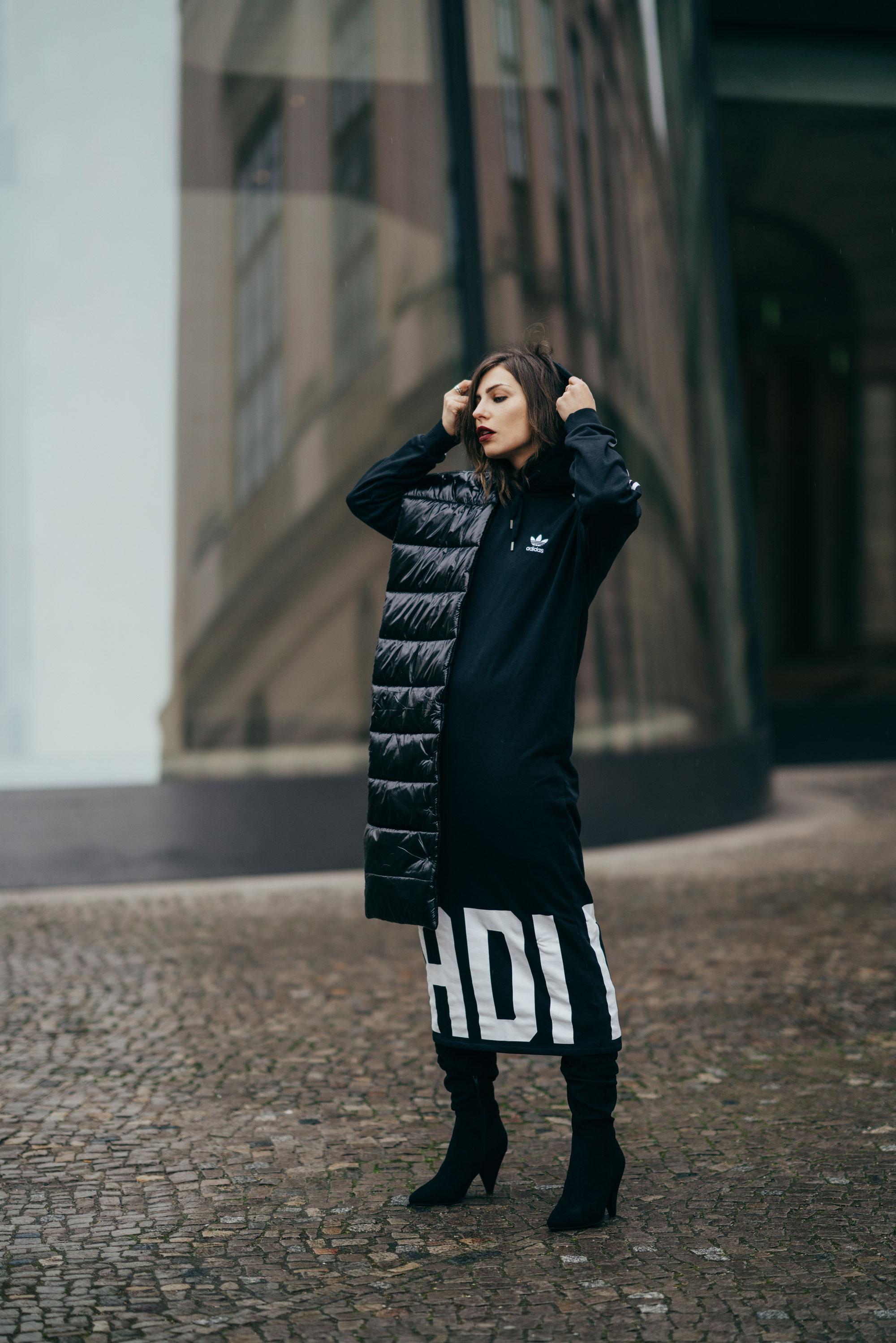 Zalando стиль дня | Маша Сэджвик | уличный стиль | мода | бренды: Topshop, Ivy Revel, Vans, Selected Femme, The Kooples, Holzweiler | Берлин | уличная мода | повседневный, кэжуал, простой, сексуальный, спортивный, офисный, ребяческий, раслабленный, крутой | итоги недели| 2018 | Adidas dress