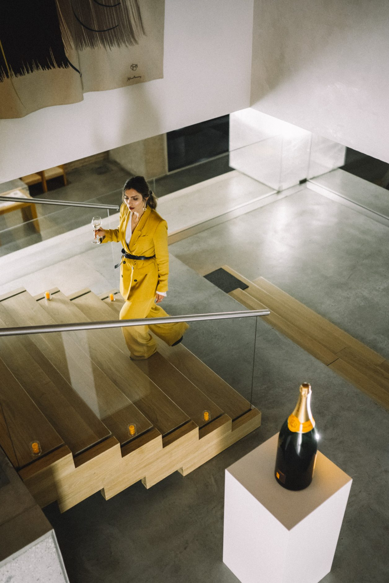 Veuve Clicquot Business Woman Award Germany 2019 | by Masha Sedgwick | Interview with Verena Pausdner | wearing: yellow suit