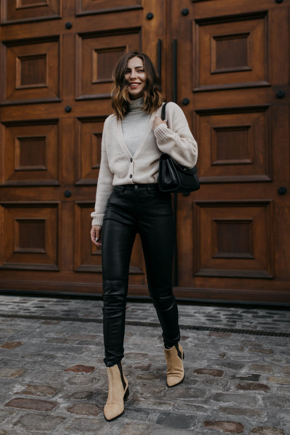 The Perfect Black Leather Pants