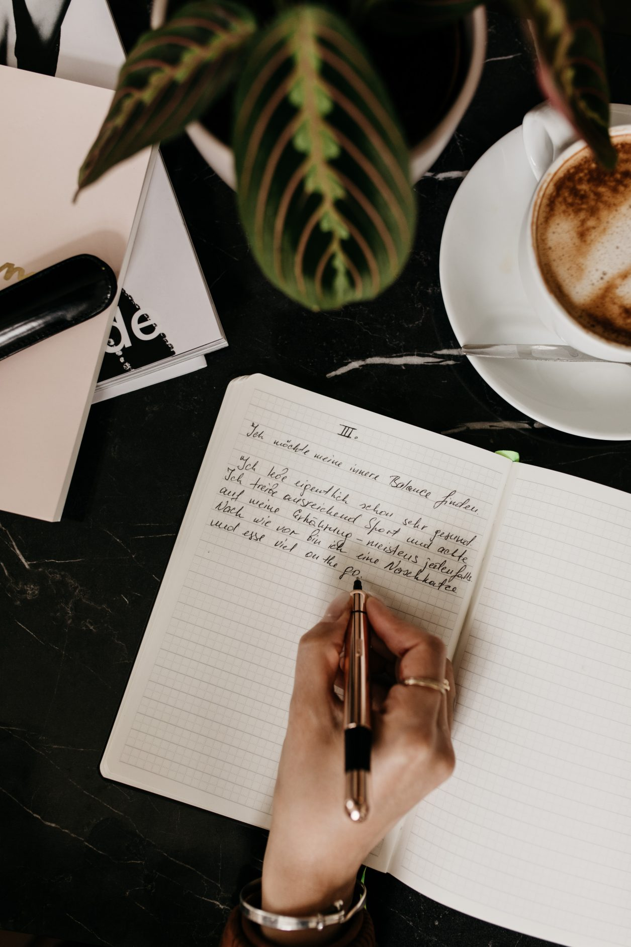 Meine Vorsätze fürs neue Jahr | Bullet Journal | Lamy Füller | Tinte | Handschrift | Editorial | Notizbuch | Kugelschreiber